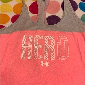 NWT breast cancer under armour tank